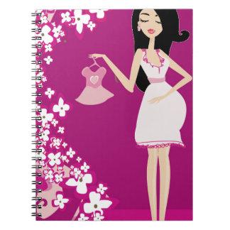 latina pregnant woman spiral notebooks