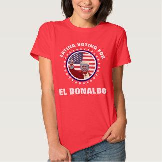 Latina que vota por el EL Donaldo Camisas