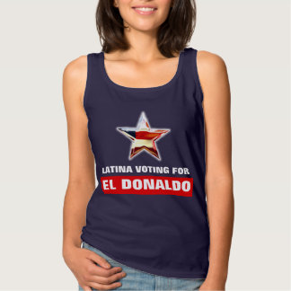 Latina que vota por el EL Donaldo Playera De Tirantes Básica
