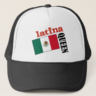 Latina Queen & Mexican Flag Trucker Hat