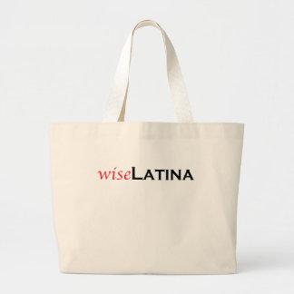 Latina sabia bolsa tela grande