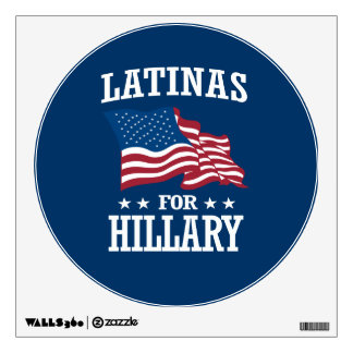 LATINAS FOR HILLARY WALL DECAL