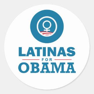 Latinas for Obama Classic Round Sticker