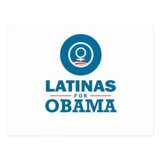 Latinas for Obama Postcard
