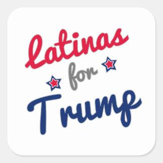 Latinas for Trump Square Sticker