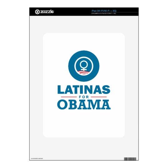 Latinas para Obama Calcomanía Para iPad