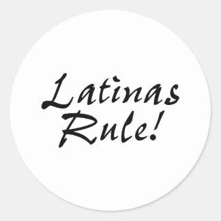 Latinas Rule Classic Round Sticker