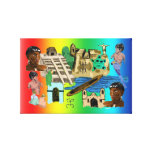 Latino America Wrapped Canvas Canvas Prints