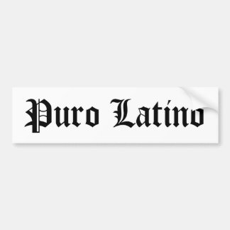 Latino de Puro Pegatina Para Auto