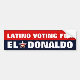 Latino que vota por Donald Trump Pegatina Para Auto