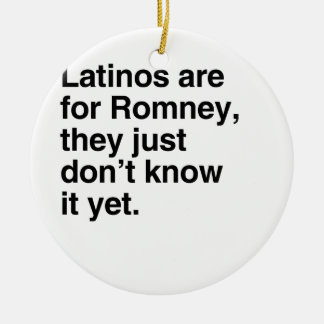 Latinos are for Romney.png Christmas Ornament