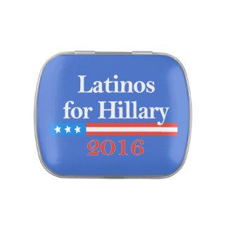 Latinos for Hillary Clinton 2016 Jelly Belly Tin