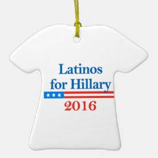 Latinos for Hillary Clinton 2016 Christmas Ornament