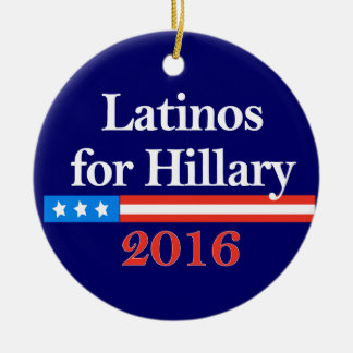 Latinos for Hillary Clinton 2016 Ornament