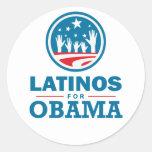 Latinos for Obama Classic Round Sticker