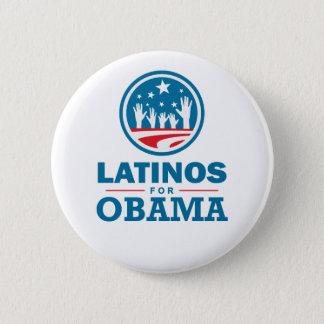 Latinos for Obama Pinback Button