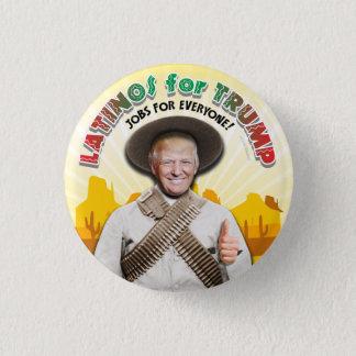 LATINOS FOR TRUMP Hispanic Pancho Villa Bandito Pinback Button