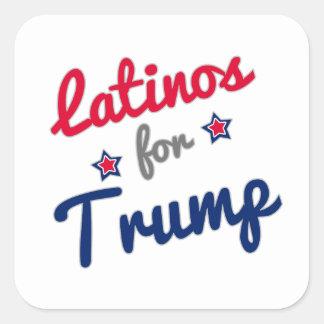Latinos for Trump Square Sticker