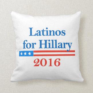 Latinos para Hillary Clinton 2016 Almohadas