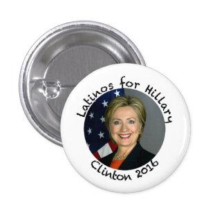 Latinos para Hillary Clinton - 2016 Pin Redondo De 1 Pulgada