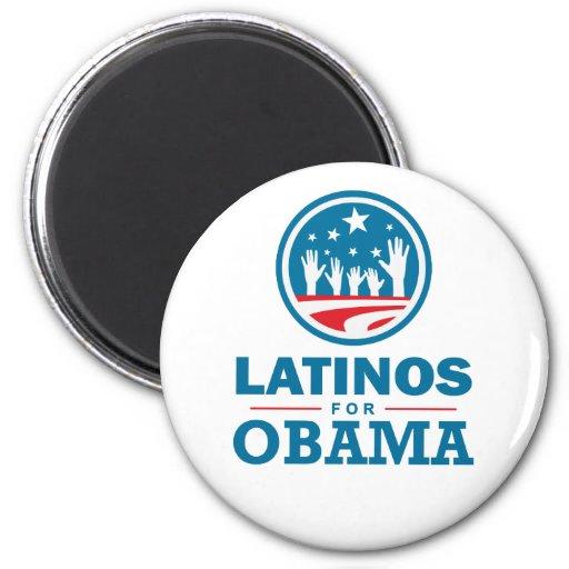 Latinos para Obama Imán De Nevera