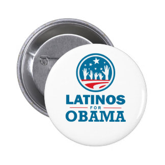Latinos para Obama Pin Redondo 5 Cm