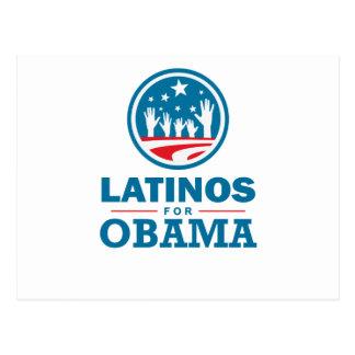 Latinos para Obama Tarjeta Postal