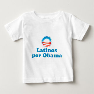 Latinos por Obama Baby T-Shirt