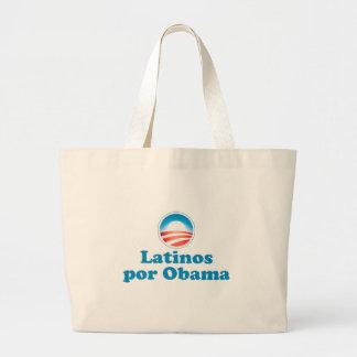 Latinos por Obama Large Tote Bag