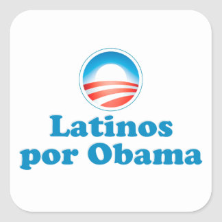 Latinos por Obama Square Sticker