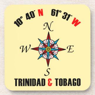 Latitud y longitud de Trinidad and Tobago Posavasos De Bebidas