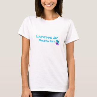 Latitude 27 Siesta Key with Flip Flops on front T-Shirt