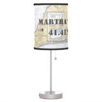Latitude & Longitude Martha's Vineyard Chart Table Desk Lamp