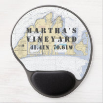 Latitude Longitude Martha's Vineyard Nautical Gel Mouse Pad