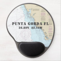 Latitude Longitude Punta Gorda Florida Nautical Gel Mouse Pad