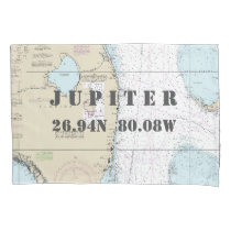 Latitude Longitude South Forida Nautical Chart Pillowcase