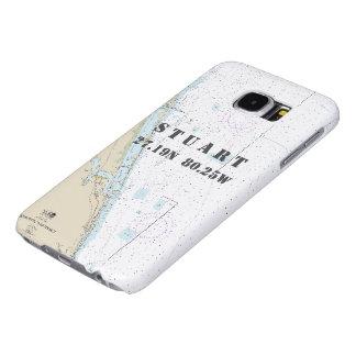 Latitude Longitude Stuart FL Nautical Chart Samsung Galaxy S6 Case