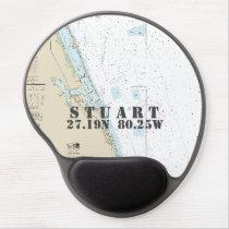 Latitude Longitude Stuart Florida Nautical Chart Gel Mouse Pad