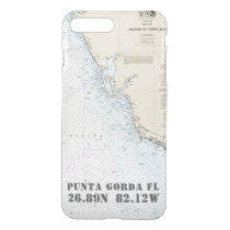 Latitude Longitude Your City FL Nautical Chart iPhone 8 Plus/7 Plus Case