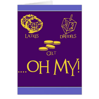 Latkes and Dreidels and Gelt Stationery Note Card