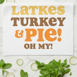 Latkes Turquía y empanada Toalla De Cocina