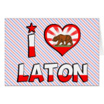 Laton, CA Tarjeton
