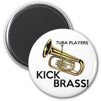 Latón del retroceso de los jugadores de la tuba imán redondo 5 cm