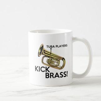 Latón del retroceso de los jugadores de la tuba taza básica blanca