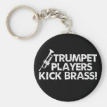 ¡Latón del retroceso de los jugadores de trompeta! Llaveros Personalizados
