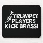 ¡Latón del retroceso de los jugadores de trompeta! Alfombrillas De Ratones