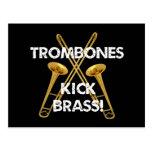 ¡Latón del retroceso de los Trombones! Postal