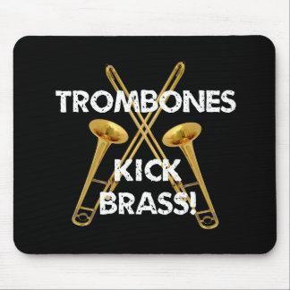¡Latón del retroceso de los Trombones! Mousepad