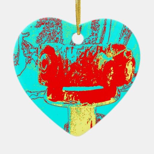 Latón E de la abrazadera Adorno Navideño De Cerámica En Forma De Corazón