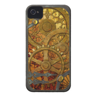 Latón e iPhone de bronce 4 de Steampunk iPhone 4 Protectores